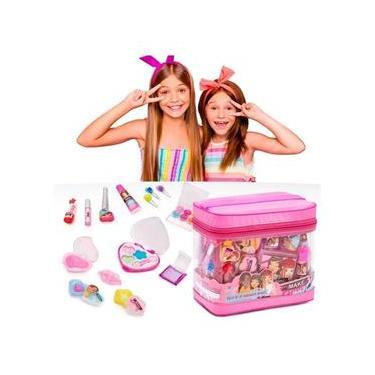 Imagem de Maquiagem Infantil Estojo+Gloss+Sombra+Baton+Pincel+Esmalte