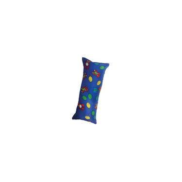 Almofada Apoio De Cabeça Lateral Infantil 14cmx32cm Estampada Azul