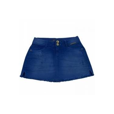 Saia Jeans Ana Hickmann Mini Low Ah101