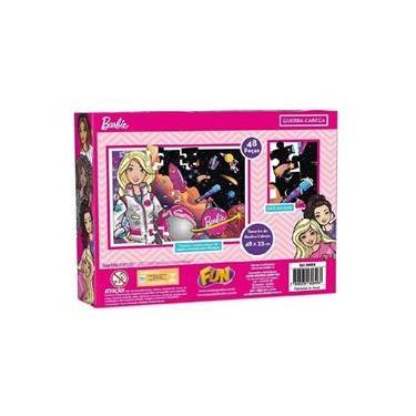 Imagem de Brinquedo Quebra Cabeca da Barbie Fun 86888 48 Pecas
