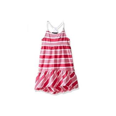 Vestido Rosa Listrado Nautica