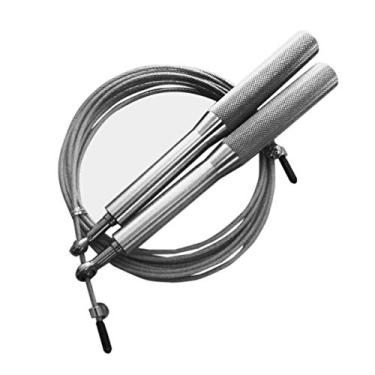 Corda Pular Aço Crossfit 3m Rolamento Speed Profissional Prata
