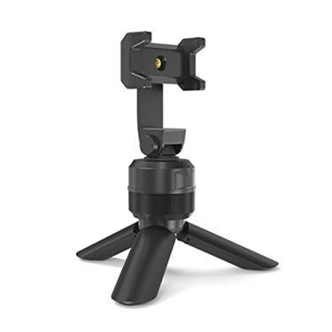 AmiAbi Rotação de 360 graus portátil Smart Face Tracking Object Tripé Selfie Stick Suporte de alumínio portátil para tripé ao vivo, (preto), 1.Smart follow shooting. A interface da câmera APP sele