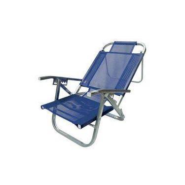 Cadeira De Praia Reclinável - Copacabana - Azul Royal - Botafogo