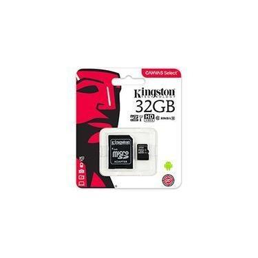 Cartão de memória micro SD 32gb c/ adaptador Classe 10 Kingston BT 1 UN