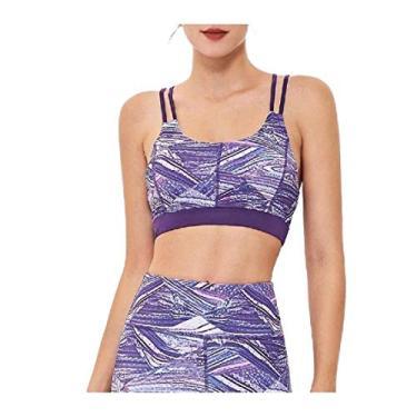 DressU blusa feminina para ioga fitness Cami estampa floral outono inverno ioga colete, As1, Medium