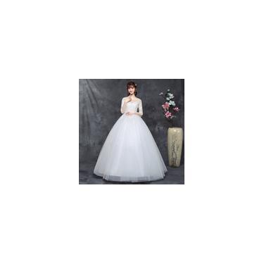 Imagem de Vestido longo branco de noiva com Saia da moda C10