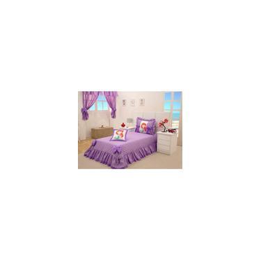 Imagem de Conjunto colcha E cortina lilás solteiro pequena sereia