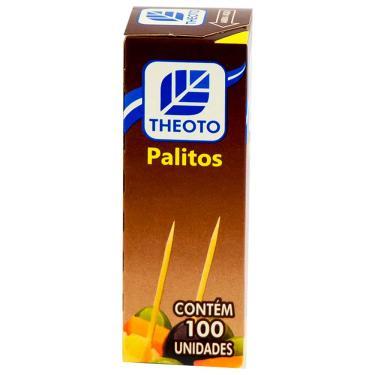 Palito de Dente Madeira Theoto 100 Unidades 300407