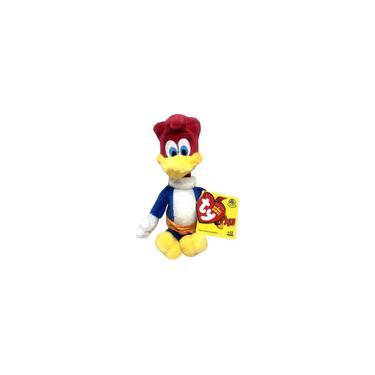 Imagem de Boneca De Pelúcia Pequena Ty Beanie Babies Animal Winnie - Personagem Do Desenho Infantil Pica Pau Woody Woodpecker - 18 Centímetros De Altura - Dtc Brinquedos