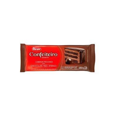 Barra de Chocolate Fracionado Confeiteiro Meio Amargo 1,05kg - Harald