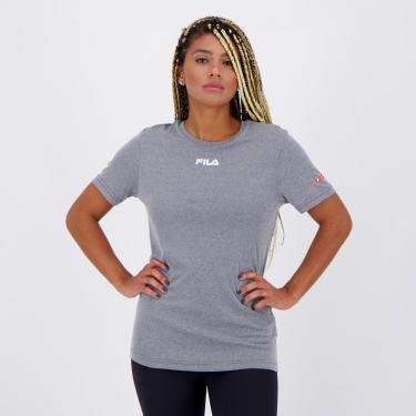 Camiseta Fila Sunprotect Cinza - P