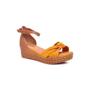Sandália Plataforma Espadrille Mississipi Q0983 Amarelo/Natural