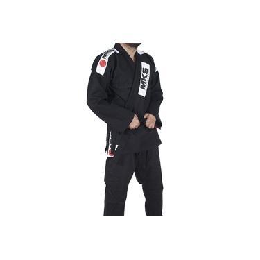 Kimono Jiu Jitsu Mks Combat Preto a3