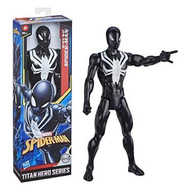 Figura Marvel Spider-Man Titan Hero Series, Boneco de 30 cm - Homem-Aranha Traje Preto - E8523 - Hasbro