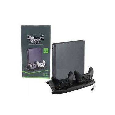 Base Suporte Vertical Xbox One X Cooler Carregador Hub 4 Usb