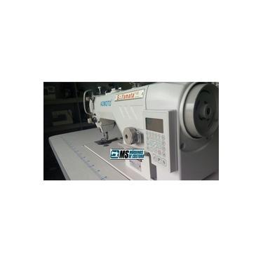 Máquina de Costura Reta Industrial Eletrônica c/ Direct Drive, Corte de Linha, Lubrif. Automática, 5000ppm, 550W