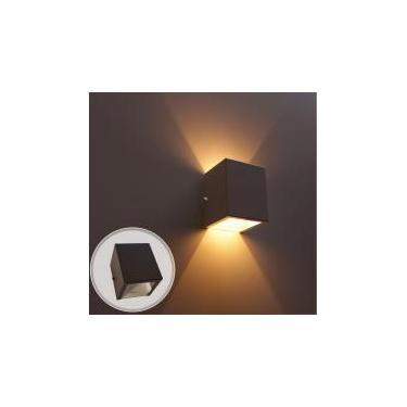 kit com 6 arandela 2 fachos externa e interna para lâmpada g9 - luminária marrom st678 - Starlumen