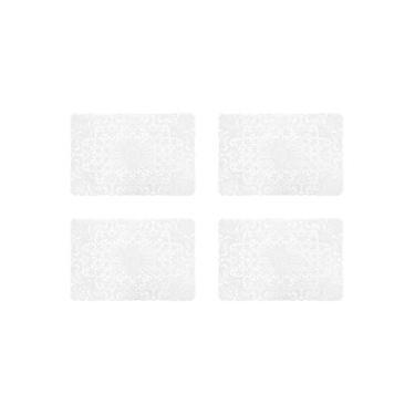 Imagem de Jogo 4 Unidades Lugar Americano Crochet Pvc  45X30cm Branco