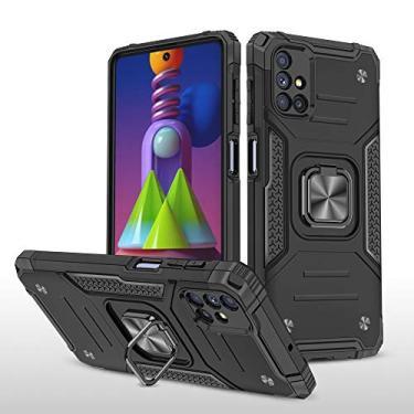 UCASE007 capa para celular Samsung M51, com fivela magnética giratória em 360 °,preto