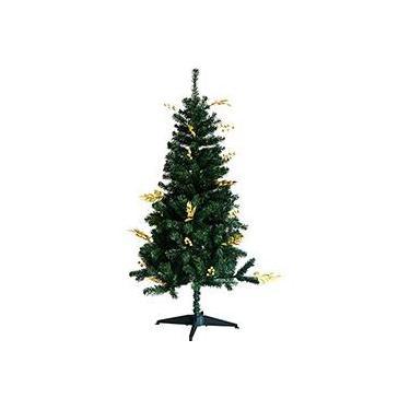 Árvore de Natal Decorada 1,5m 359 Galhos com Enfeites de Frutas Douradas e Pontas Natalinas Douradas - Orb Christmas