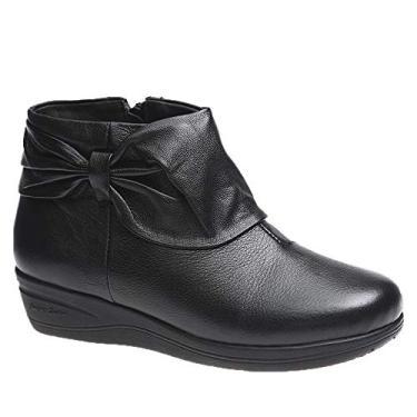 Bota Feminina em Couro Roma Preto 158 Doctor Shoes Bota Feminina 158 em Couro Preto Doctor Shoes-Preto-37