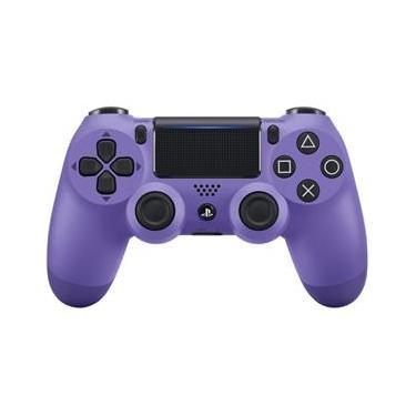 Controle Sony Dualshock 4 Roxo Elétrico sem fio (Com led frontal) - PS4