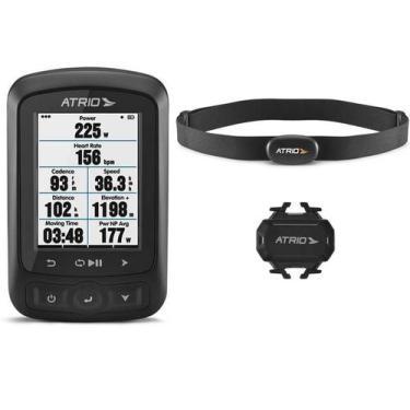 Imagem de Ciclocomputador GPS Atrio Titanium Kit Bundle Autonomia 22h Bluetooth