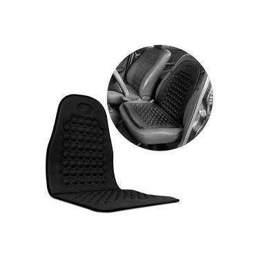 Assento e Encosto para Banco automotivo Massageador - Preto - capa para todos os carros