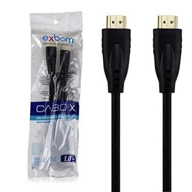 Cabo HDMI Suporte 3D Versão 1.4 Full HD 1080 Exbom CBX-H10SM 1 Metro