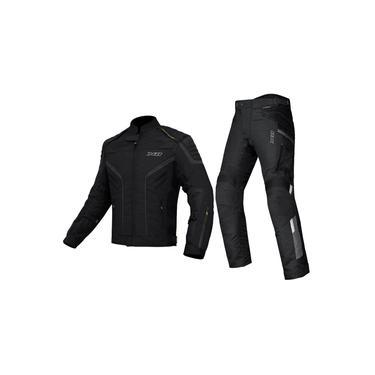 Jaqueta X11 Iron 2 Preta Impermeável + Calça X11 Troy 2 Motociclista