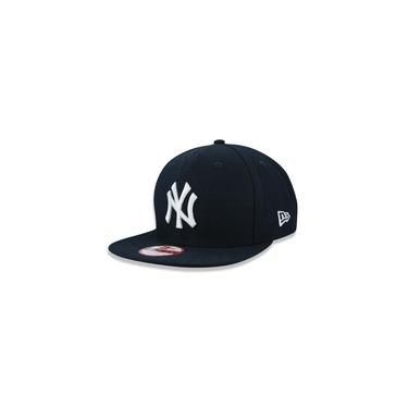 Bone 9fifty Original Fit Aba Reta Ajustavel Mlb New York Yankees Aba Reta Snapback Marinho New Era
