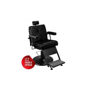 Cadeira de Barbeiro Reclinável Milão - Preto - Tera móveis