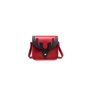 1pc pu moda Crossbody Bag Soulder Bag Casual Bag Corpo Cruz (vermelho verde)