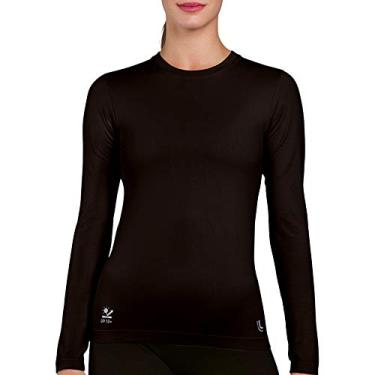Camiseta,Proteção UV,Lupo,feminino,Preta,G
