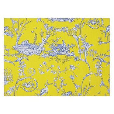 Imagem de Toalha De Mesa Redonda Chasse Amarelo 1,20 m