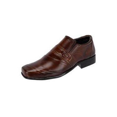 Sapato Social Masculino Leoppé em Couro Whisky