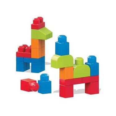Imagem de Mega Blocks - Pré Escolar - Cores Vivas - Sacola com 40 Peças - Mattel
