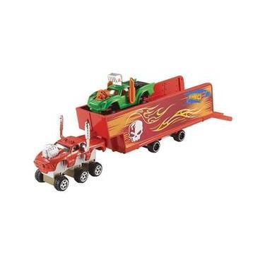 Imagem de Hot Wheels Snap Rides Caminhão & Reboque - Mattel