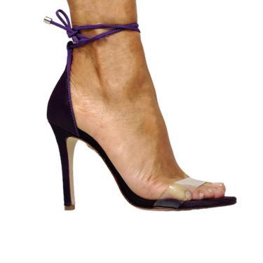 Sandália Schutz Vinil + Pelinhos Roxo  feminino