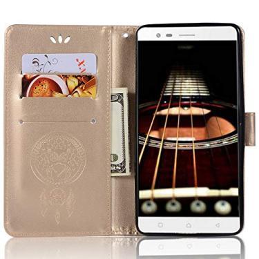 Capa de couro Lenovo K5 Note, capa carteira Lenovo Vibe K5 Note Pro, capa flip floral em couro PU com suporte para cartão de crédito para Lenovo K5 Note de 5,5 polegadas, Lenovo Vibe K5 Note Pro