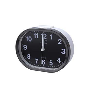 Imagem de Relógio de mesa LIOOBO analógico despertador ao lado da mesa, despertador de viagem, despertador infantil (cor aleatória)