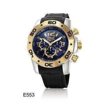 3070d86074b Relógio Everlast Cronógrafo Caixa Aço E Pulseira Silicone E553