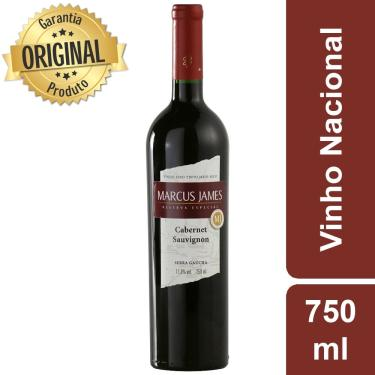 Vinho Tinto Nacional Cabernet Sauvignon Marcus James 750ml