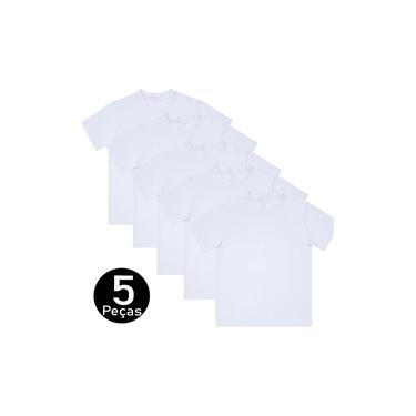Kit 5 Camisetas Malha Fria Pv Básica Poliéster Com Viscose KS CASUAL & SPORT