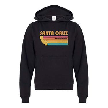 Moletom com capuz Santa Cruz para crianças, meninos e meninas, Preto, XL