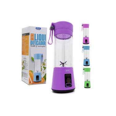 Mini Liquidificador Portátil e Recarregável 6 lâminas