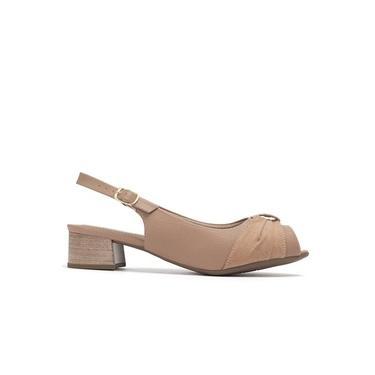 Sapato Peep Toe Feminino 114028 Piccadilly P137 - Capuccino