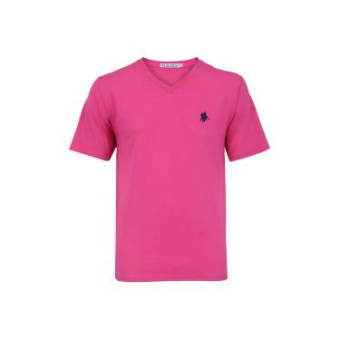 e51c7d3755 Camiseta Polo US 706TSGVB - Masculina - ROSA AZUL ESC Polo Us