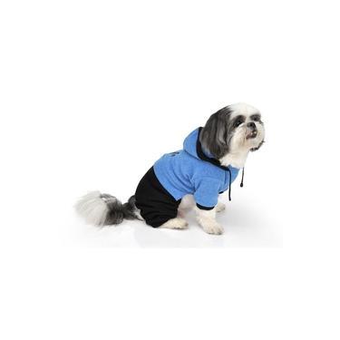 Roupa de Frio Macacão para Cachorro e Gato Pet - Azul claro - 00 - Bichinho Chic